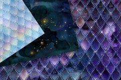 Dragon Glitter Digital Paper Product Image 2