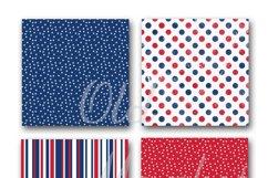 Patriotic Digital Paper Product Image 4