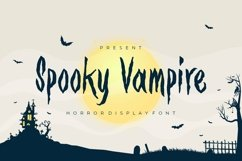 Web Font Spooky Vampire Font Product Image 1