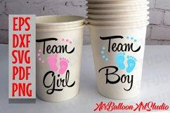 Team Boy Svg & Team Girl Svg Gender Reveal Svg Pregnancy Svg Product Image 2