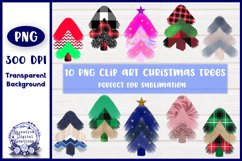 Christmas Trees Sublimation Clip Art Product Image 1