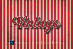 Vintage Text Effect Design Photoshop Layer Style Effect Product Image 1