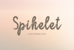Spikelet Hand Drawn Script Font Product Image 1