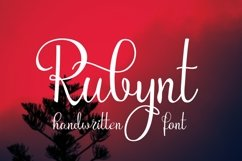 Rubynt Font Product Image 1