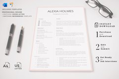 Resume and Cover Letter Template   Minimalist Resume CV Product Image 14