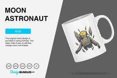 Moon Astronaut Vector Illustration Product Image 2