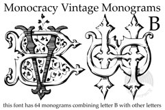 Monocracy Vintage Monograms Pack DB Product Image 2
