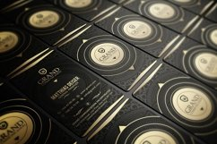 Gold And Black Business Card Product Image 1