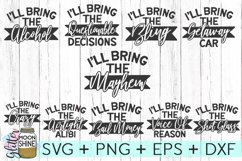 Funny Bachelorette Set of 10 SVG DXF PNG EPS Cutting Files Product Image 2