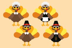 Thanksgiving Turkey Bundle Clipart, Fall, PNG, JPEG, EPS Product Image 2