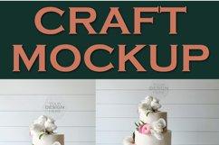 Mockup Cake Toppers Hexagon acrylic topper   JPEG Product Image 2