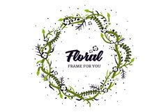 Foral Frame spring design vector Product Image 1