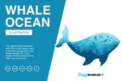 Whale Ocean Vector Illustrations Product Image 1