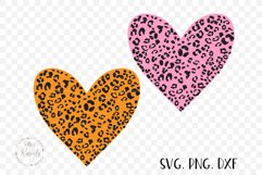 Heart With Leopard Texture Product Image 5