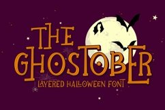 Ghostober | Halloween Layered Font Product Image 1