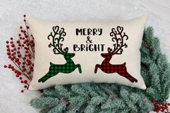 Merry and Bright Buffalo Plaid Reindeer Design Product Image 4