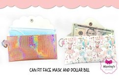 4 Style Pouch Template, Sew or No Sew Clutch, Mask Holder Product Image 3
