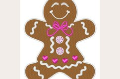 Gingerbread Girl -Machine Embroidery Design Product Image 1