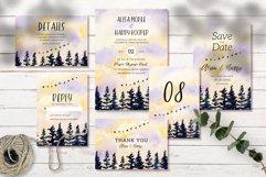 Beautiful Landscape Wedding Invitation Set Product Image 1