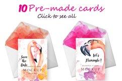 Boho flamingo Watercolor set Product Image 5