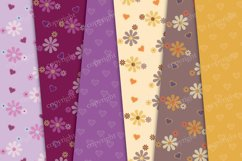 Flowers and hearts digital background Product Image 3
