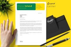 Creative Resume CV Template for Word & Pages Elena Island Product Image 5
