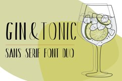 Gin And Tonic   Sans Serif Font Duo Product Image 1