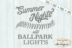 Summer Nights Ballpark Lights Baseball Softball SVG DXF File Product Image 2