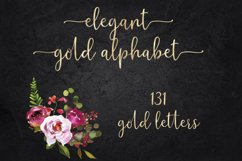 Mettalic letters, Wedding fonts, Golden lettering Product Image 1