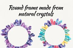 Watercolor crystals. clipart with crystals Product Image 3