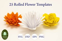 25 Rolled flowers svg, cutfiles, paper craft templates Product Image 5