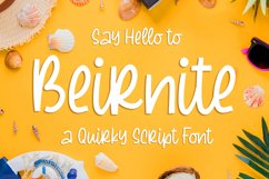 Beirnite - a Quirky Script Font Product Image 1