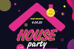 House Party Flyer Poster Product Image 4