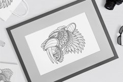Zentangle Stylized Saber tooth Product Image 3