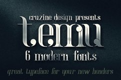 temu - Modern Font Product Image 5