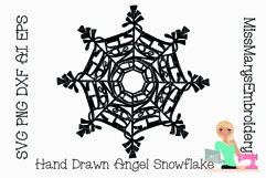 Angel Word Snowflake SVG | Angel SVG | Snowflake SVG | Product Image 3