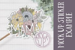 Blessed Mama PNG File / Sublimation Clipart File Product Image 3