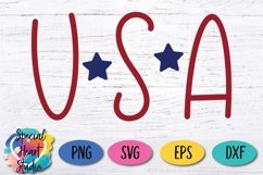USA - A hand lettered patriotic SVG Product Image 2