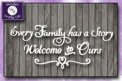 Family svg - Every Family wall quote - SVG - PNG Product Image 1