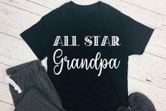 All Star Dad & Grandpa Bundle Cut Files - SVG & PNG Product Image 3