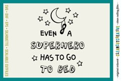 Funny Boys Superhero Bedtime Quote|SVG DXF EPS PNG cut file Product Image 1