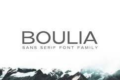Boulia Sans Serif Font Family Product Image 1