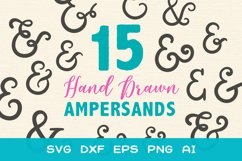 15 Ampersands for Crafters - SVG DXF EPS Cutting Files Product Image 1