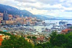 French riviera. Monaco. Monte Carlo. harbour  Product Image 1