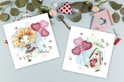 Funny Valentine Cards, Digital Clipart Valentines, Birthday Product Image 3