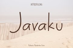Javaku Handwritten Display Typeface Fonts Product Image 1