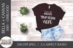Bella Canvas 3001 Woman's T Shirt Mockup, Oxblood Black Product Image 1