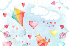 Watercolor sky cute seamless pattern Product Image 2