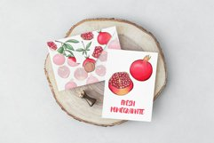 Pomegranate hand drawn clipart Product Image 6