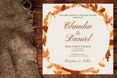 Autumn Wreath Wedding Invitation Product Image 1